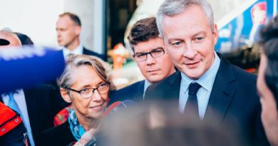 Le Ministre Bruno Le Maire lors d'une rencontre en 2018