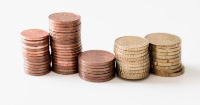 Pièces d'argent representant une croissance financière