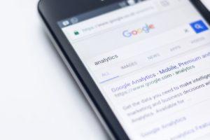 Une page du moteur de recherche Google