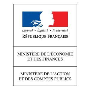 Logo du Ministère de l'Économie et des Finances, de l'Action et des Comptes publics