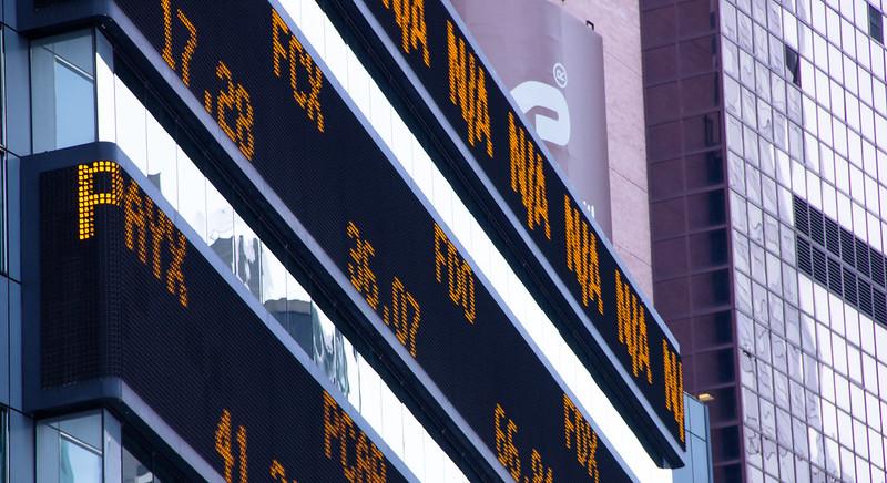 Un écran à la Bourse.