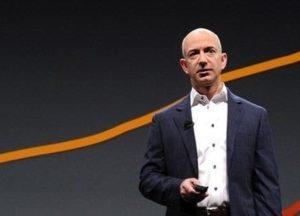Jeff Bezos, le PDG d'Amazon, lors d'une conférence.