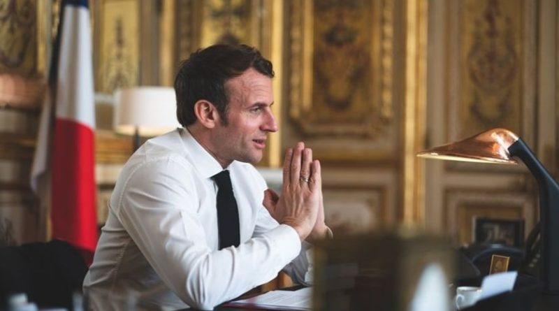 Emmanuel Macron à l'Elysée, en avril 2020.